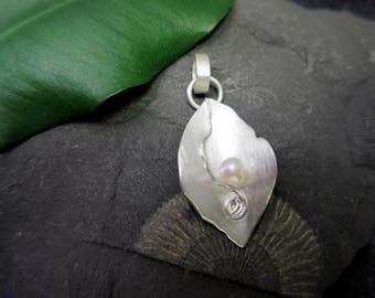 Romantic pendant silver bead sterling Silver Necklace