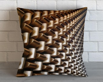 Lines and Edges Throw Pillow, Decorative Pillow