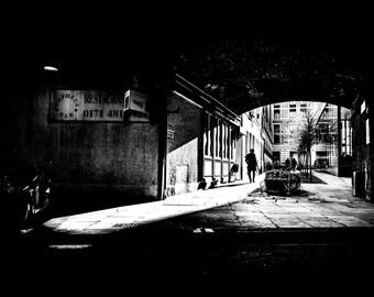London photography, London street photography, The City of London,  fine art photography, black and white, London prints, London shaddow