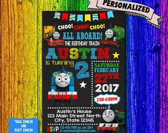 Train Invitation / Thomas The Train Birthday / Thomas The Train Birthday Invitation / Thomas The Train Party / Thomas The Train Printable