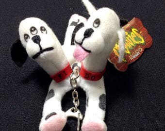 "Teeny Weenie Meanies Keychain Series 1, ""Fi-Do"" the Dalmutation, Vintage 1997 Keychain Zipperpull, Dog Teenie Weenie Meanies Collectable"