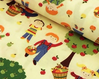 Teachers apple patchwork cushions quilting fabric fabric upholstered clothing cotton fabric yellow child children Apple trees