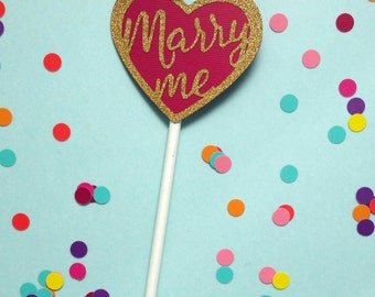 Marry Me Heart Topper