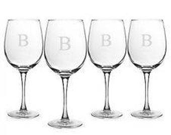 Intial Wine Glass Set