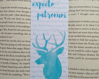 Expecto Patronum-spell quoted-bookmark from Harry Potter