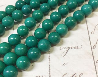 AA quality, Magnesite Beads Green Beads, Round, 6mm, Full strand