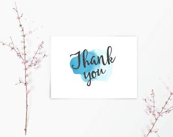 Thank you notecards with envelopes / notecard / ink spodge / notelets / cards