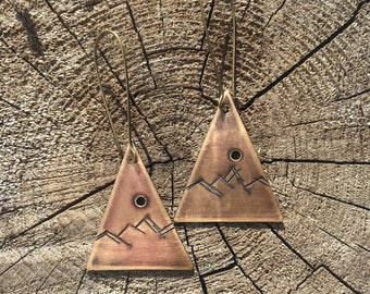 Brass Mountain Earrings