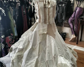 Tattered Bride of Frankenstein Dress
