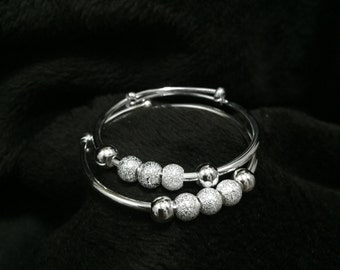 Baby Bangle made from 9999 Pure Silver