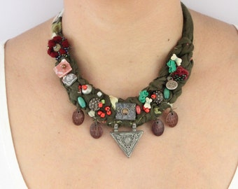 Unique Design Bohemian Boho Necklace | Easter Gift for Her - Moms, Mothers, Girlfriends, Best Friends / BH31