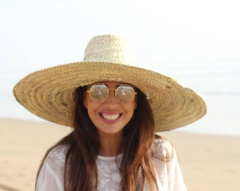 Oversized Straw Hat -