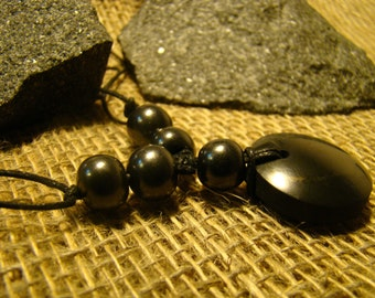 "Shungite necklace ""Regina"" with beads of Karelia."