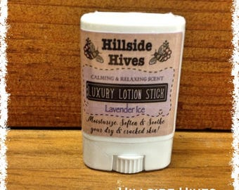 Solid Lotion Stick ~ Lavender Ice ~ 0.5 oz