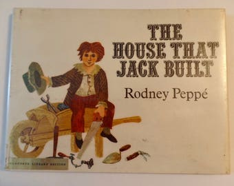 The House That Jack Built Rodney Peppe' 1970 First Edition Children's Classic Rhyme Funny