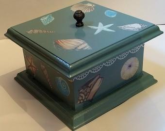 Blue Shell Themed Trinket Box