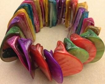 Vintage Multicolor Shell Bracelet