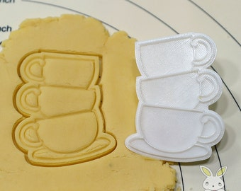 Three Cups Cookie Cutter and Stamp