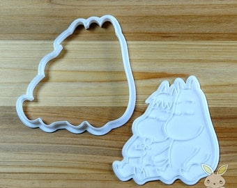 Moomin and Snork Maiden Cookie Cutter and Stamp