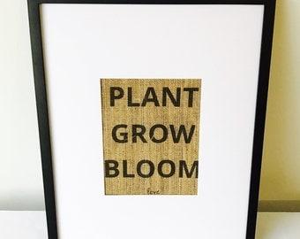 Burlap Print, Burlap Sign, Custom Burlap Print, Custom Burlap Sign, Home Decor, Wall Decor, Wall Art, Farmhouse Decor