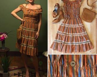 Vintage Peasant Dress Size M