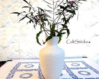 Vintage of 60s classic elegant vase white
