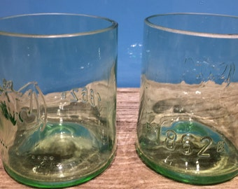 Set of 2 water, whisky, gin and tonic tumbler from Bacardi bottle.