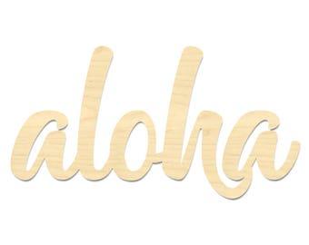 Aloha Sign- Aloha Wall Sign- Hello Wording Cut Out Sign
