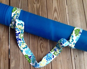 Yoga mat carrier yoga mat strap gifts for her yoga gifts summer florals adjustable mat strap