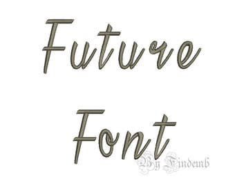Future Embroidery Font Designs 5 size Instant Download