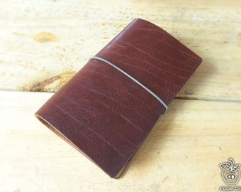 "Apple Pig Leather""Duke duck"" Traveler's Notebook"