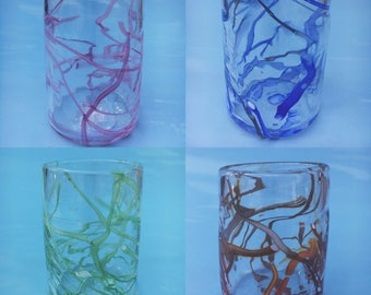 Electric Cups, Glass, Handblown, Tumbler, Cup, Water Glass, Water Cup, Home Decor, Drinking Cup