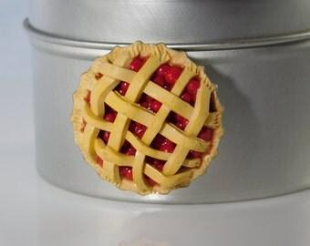 Lattice Cherry Pie Magnet