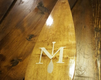 Custom handmade maple canoe paddle