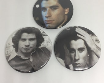 Travolta Trifecta--2.25'' pinback buttons