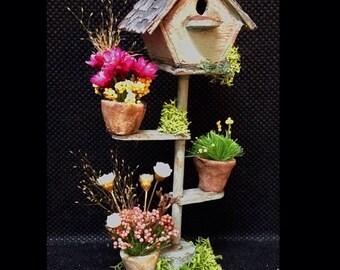 House birds garden 1:12. Garden