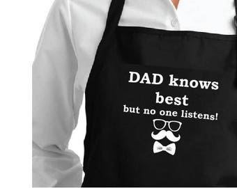 Apron Dad knows best but no one listens!