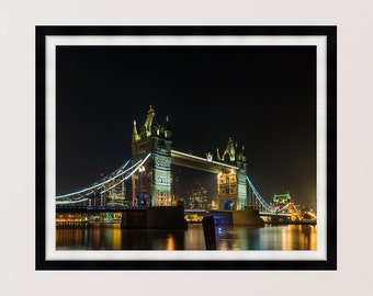 London Life - Tower Bridge at Night. Photography Print, Wall Art, Home Decor - Multiple Sizes Available