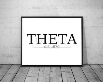 Printable Theta est. 1870