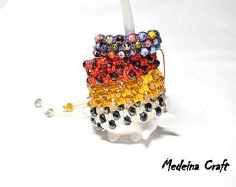 Multi Colour Three Rows Braided Bracelets