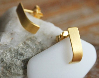 Curves - gold was platted silver earrings