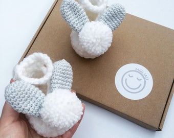 Crochet baby shoes, Easter baby gift, New baby gift, Newborn baby shoes, Baby shower present, Photo shoot prop, Baby boy booties, New mom