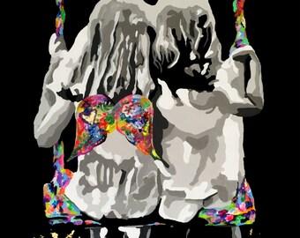 Guardian Angel, limited edition print, Urban art, contemporary art, modern art, wall art, graffiti, animals, home decor, original artwork