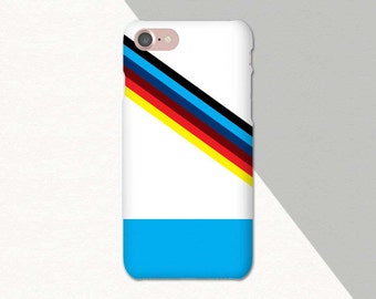 Retro Phone Case, Geometric iPhone Case Striped, iPhone 6 Case, Blue Red Black, iPhone Case Stripes, iPhone 7 Case Blue iPhone 6S Case, SE