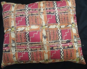 Decorative Bolster Pillow, African Print Pillow, Throw Pillow, Decorative Pillow