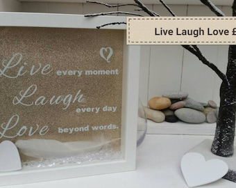 Live Laugh Love personalised frame