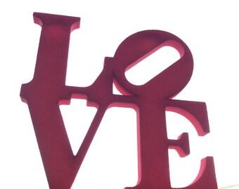 Love Sculpture wall decoration / Custom names possible