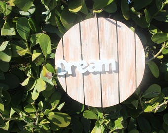 Wood Pallet Plaque- Dream