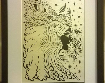 Tiamat The Dragon Dark & The Beautiful Goddess of Chaos papercut