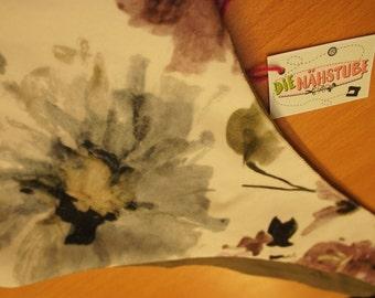Fabric, turning bag velvet floral / khaki